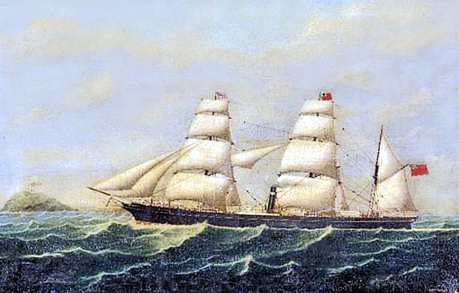 JPG City of                                                   Dublin Ship painting                                                   1869 by John Frederick                                                   Loos