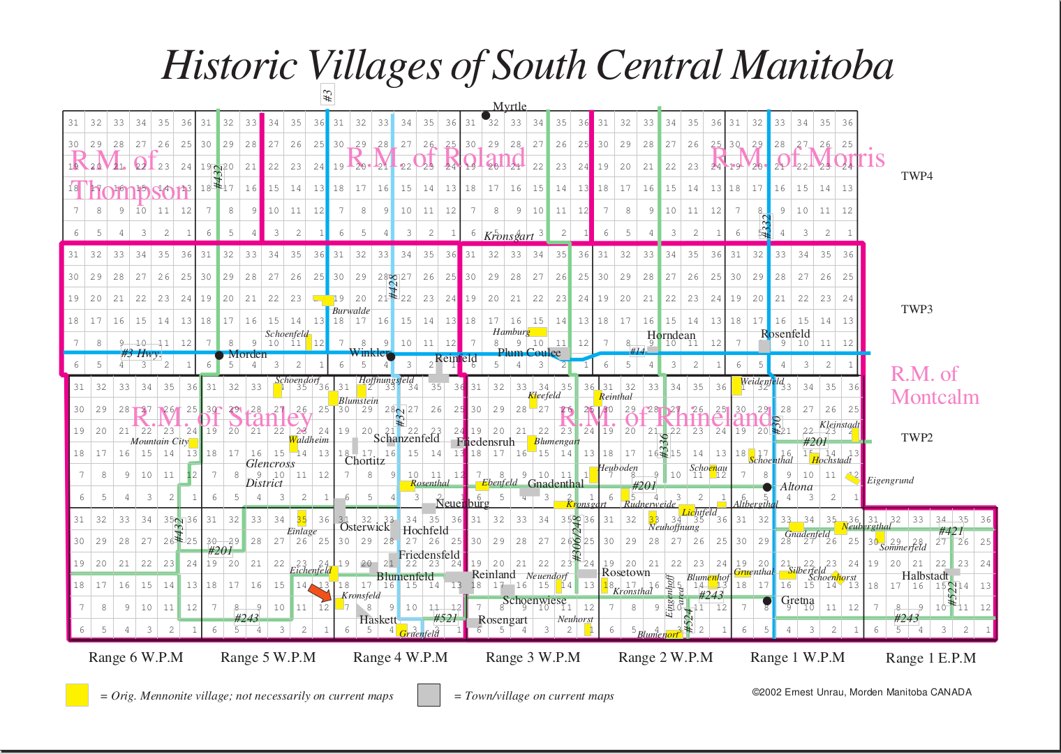 PNG south manitoba mennonite villages
